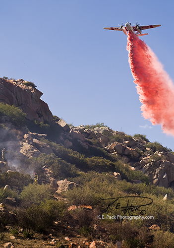 Cal-Fire S2T dropping retardant