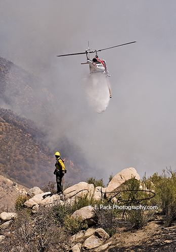 Cal-Fire helo 301 and USFS firefighter